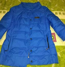 Jacket-lining is stylish bright cornflower blue color,