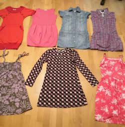 Вещи для девочки, платья, туники