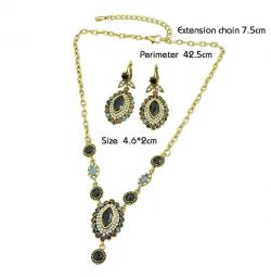 Set de bijuterii antique (colier / cercei)
