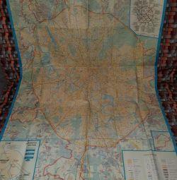 Карта Москвы и области