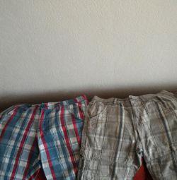 Pantaloni scurți, vara. Preț pentru doi.