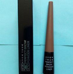 Avon True Light Brown Eyebrow Shadow Powder