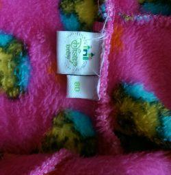 Comod, fleece, rochie moale, 80-92cm.