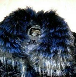 Шикарная куртка из ягненка со стразами HARMANLI 46