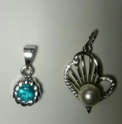 2 pendants made of silver
