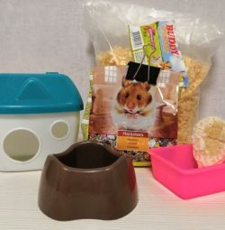 Lodge Drinking Bowl Feeder for Hamster Rodents