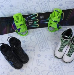 Сноуборд FTW Random 135 см + крепления + ботинки