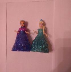 Doll on wheels Anna and Elsa