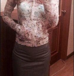 Guipure σακάκι + φούστα, μέγεθος 40-42! Νέα !!!