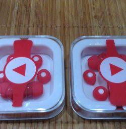 Coca-Cola Headphones with interchangeable inserts, new