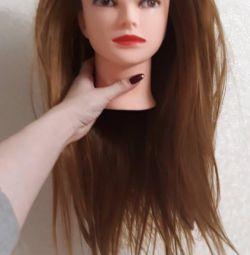 Cap cu manechin de păr
