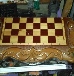 Șah + Backgammon + Dame