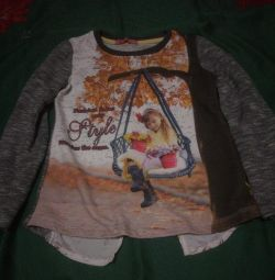 Spectacular blouse, rear chiffon insert