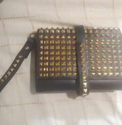 Leather new clutch bag