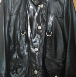 Natural leather jacket.