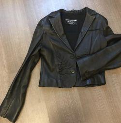 Jachetă de piele scurtă
