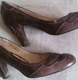 Pantofi din piele naturală, r-38