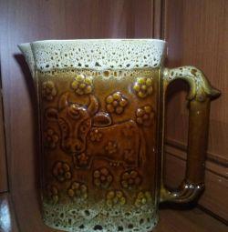 Jug milk jug new on 1 liter