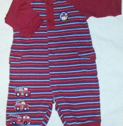 Βολικές φόρμες 0-3 μήνες κούμπωμα σε όλο το μήκος.