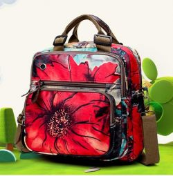 Bag - a backpack for mummies with poppies, new