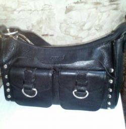 Branded bag, genuine leather.
