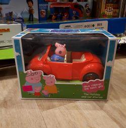 Domuz külü ailesi olan yeni araba