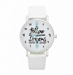 Часы белые наручные женские новые