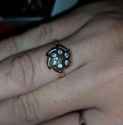 Золотое винтажное кольцо 585 пробы
