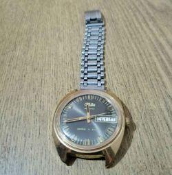 Часы Слава, механические, Au 10,СССР