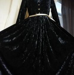 Новое платье в пол!!! Море бархата. 💣💣💣