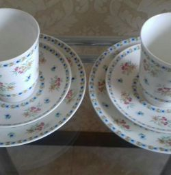 Cups and saucer