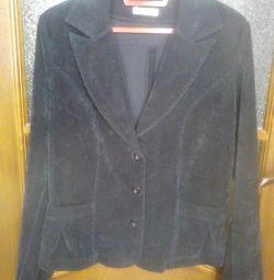Ceket mikro-kadife, rn 46-48 yeni