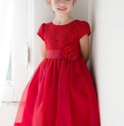 Kızlar için yeni zarif bebek elbise 7-8-9-10