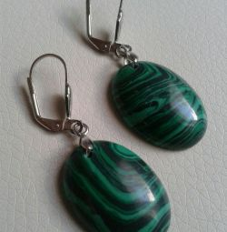New earrings and a ring with malachite