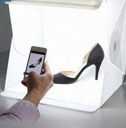 Photoboxing (lightbox) pentru fotografia subiectului