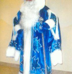 ? Santa Claus costume Frost blue velvet brocade with