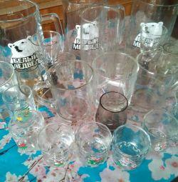 Επιτραπέζια σκεύη χύμα: γυαλιά, ποτήρια, κούπες