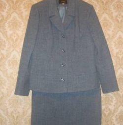 Suit 46-48 jacket skirt