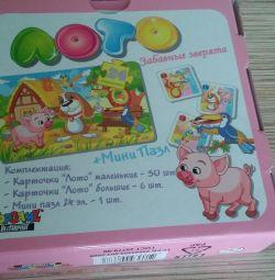 Loto și puzzle-uri pentru copii