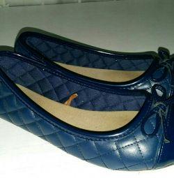 Туфли для девочки синие р33