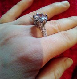 Δακτύλιος 17.5r. Κοσμήματα Ζιρκόνια, Ρόδιο