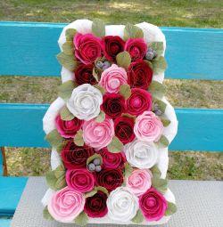 Pano 3 D Αρκούδα με τριαντάφυλλα