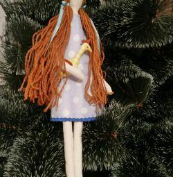 Κούκλα με χειροποίητο κούκλα
