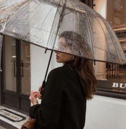 парасолька-тростина прозорий