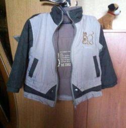 Куртка 90-100см на флісі