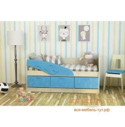 Κρεβάτι Dolphin 1,9 MDF (Belford / αραβοσίτου)