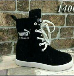 Sneakers. Winter.