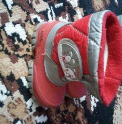 Продам утеплені чобітки р 23