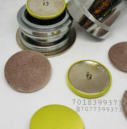 Пуговицы для обтяжки кожи и ткани