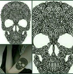 Tattoo Temporary Skull